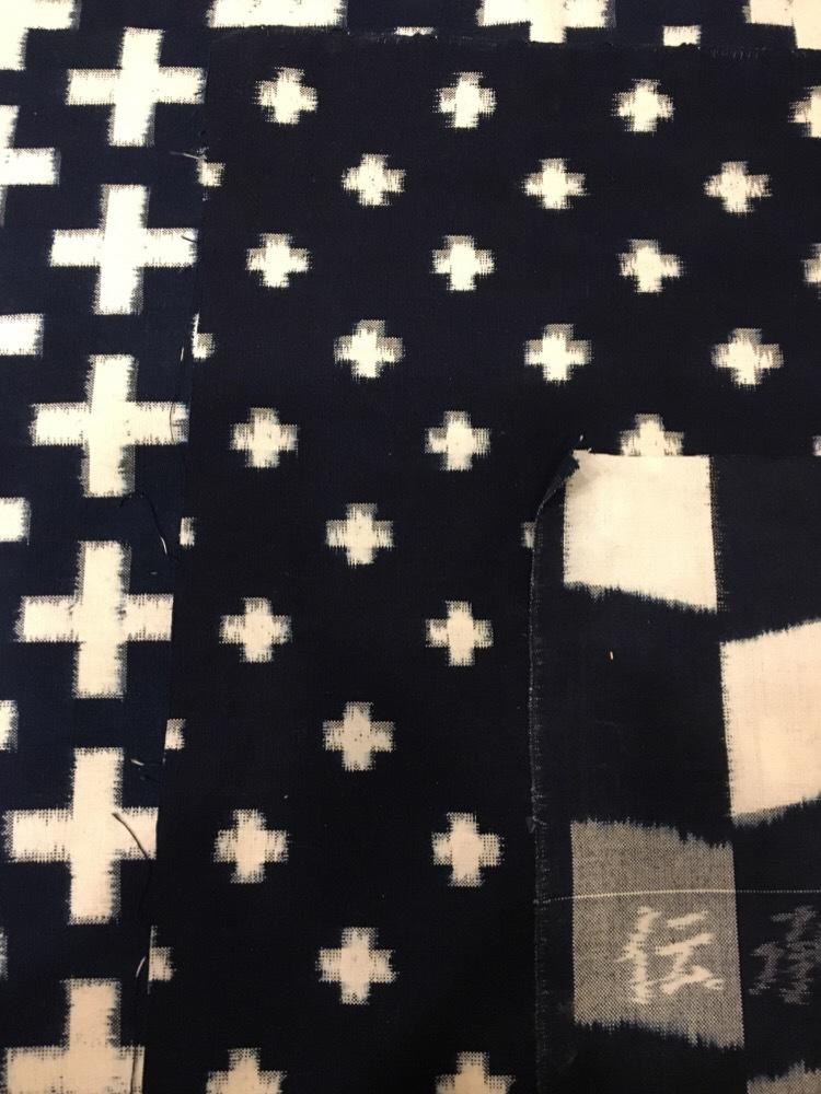 藍染絣工房山村健さんの本藍、手織りの久留米絣
